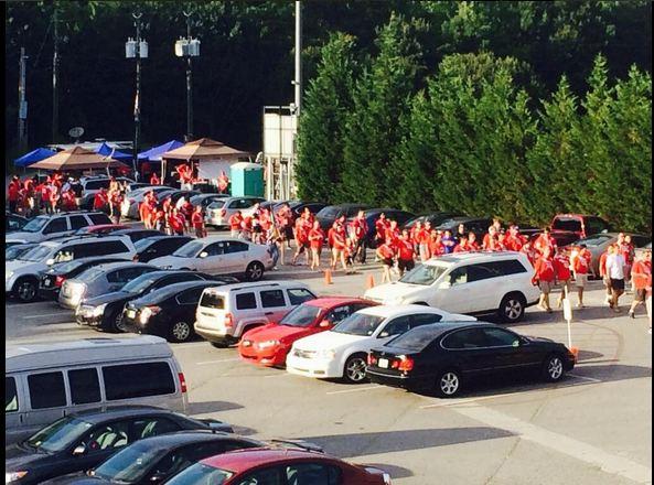 The Legion marches into battle c/o Atlanta Silverbacks