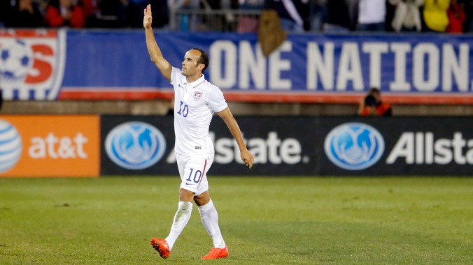 Landon Donovan's final USMNT match. c/o Fox Sports
